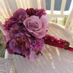 Silk Bridal Bouquet - Lave..